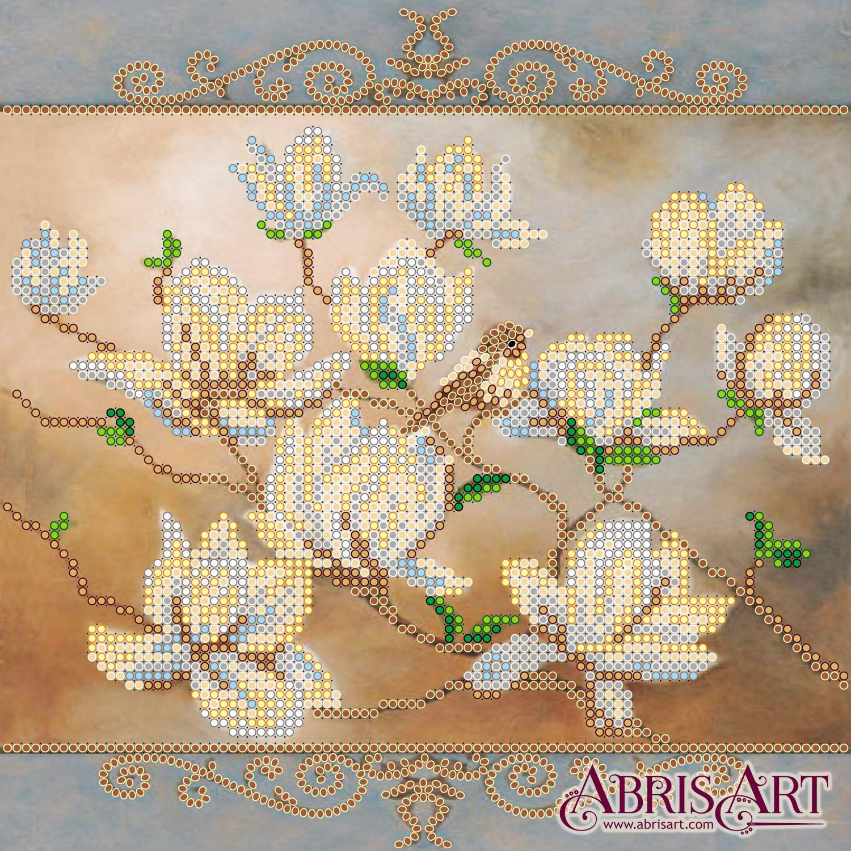 Схема для вышивки бисером на натуральном художественном холсте
