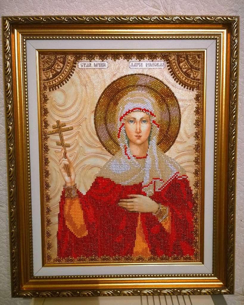 Вышивка бисером святая дарья